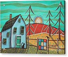 Blue House 1 Acrylic Print by Karla Gerard