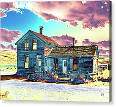 Acrylic Print featuring the photograph Blue House by Jim and Emily Bush