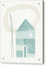 Blue House In Moonlight- Art By Linda Woods Acrylic Print