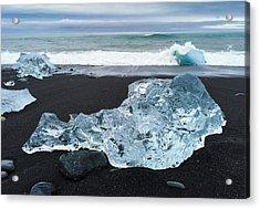 Blue Ice In Iceland Jokulsarlon Acrylic Print