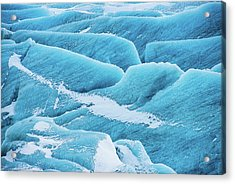 Acrylic Print featuring the photograph Blue Ice Svinafellsjokull Glacier Iceland by Matthias Hauser