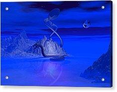 Blue Ice World Dragon Acrylic Print