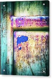 Blue In Iron Door Acrylic Print