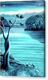 Blue In Marlborough Nz Acrylic Print by Barbara Stirrup