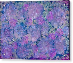 Blue Iridescent Acrylic Print by Don  Wright