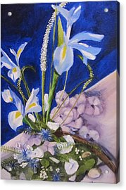 Blue Iris Acrylic Print by Gloria Condon