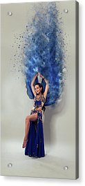 Blue Is The Colour Acrylic Print by Nichola Denny