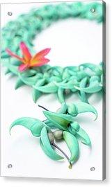 Blue Jade Lei Acrylic Print