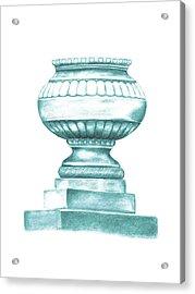 Acrylic Print featuring the digital art Blue Jardiniere  by Elizabeth Lock