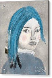 Acrylic Print featuring the painting Blue Jasmine by Bri B