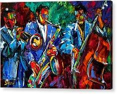 Blue Jazz Acrylic Print by Debra Hurd