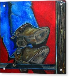 Blue Jeans And Boots Acrylic Print by Patti Schermerhorn