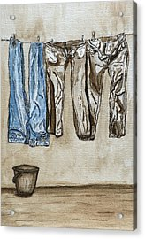 Blue Jeans. Acrylic Print