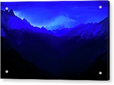 Acrylic Print featuring the photograph Blue by John Poon