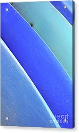 Blue Kayaks Acrylic Print by Brandon Tabiolo - Printscapes