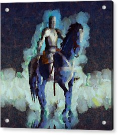 Blue Knight Acrylic Print
