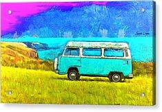 Blue Kombi - Da Acrylic Print