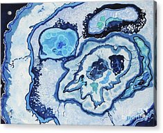Acrylic Print featuring the painting Blue Lace Agate I by Ellen Levinson