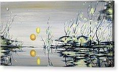 Blue Lagoon Acrylic Print by Judy Merrell