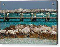 Acrylic Print featuring the photograph Blue Lagoon by Lori Mellen-Pagliaro