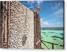 Acrylic Print featuring the photograph Blue Lagoon View by Jenny Rainbow