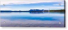 Blue Lake Horizon II Acrylic Print by Jon Glaser