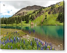 Acrylic Print featuring the photograph Blue Lakes Summer Splendor by Cascade Colors