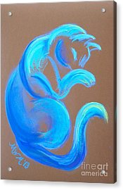 Blue Like Cats Acrylic Print
