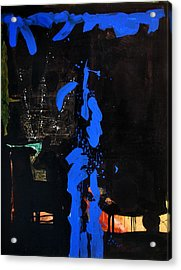 Blue Line Acrylic Print by Vonitya Anand