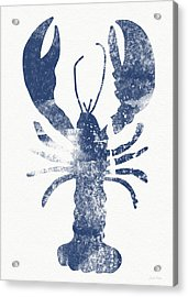 Blue Lobster- Art By Linda Woods Acrylic Print by Linda Woods