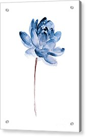Blue Lotos Flower Girls Room Decor Acrylic Print