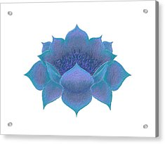 Acrylic Print featuring the digital art Blue Lotus by Elizabeth Lock
