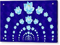 Blue Lotus Tunnel Acrylic Print