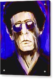 Blue Lou Acrylic Print by Julio Blanco