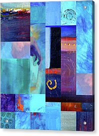 Blue Love Acrylic Print by Nancy Merkle