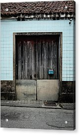 Acrylic Print featuring the photograph Blue Mailbox by Marco Oliveira