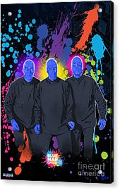 Blue Man Group's 25th Anniversary Acrylic Print by Joseph Burke