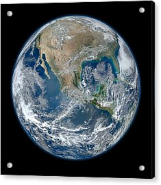 Blue Marble 2012 Planet Earth Acrylic Print by Nikki Marie Smith