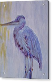 Acrylic Print featuring the painting Blue  by Marie Hamby
