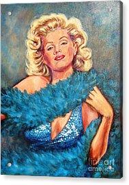 Blue Marilyn Acrylic Print