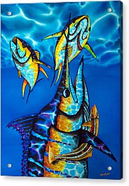 Blue Marlin Acrylic Print by Daniel Jean-Baptiste