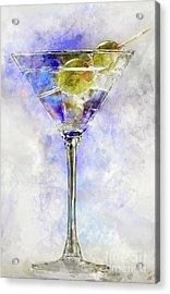 Blue Martini Acrylic Print by Jon Neidert