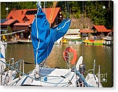 Blue Mast Covering Sheath Foreground Acrylic Print