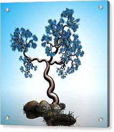 Blue Math  Tree 2 Acrylic Print