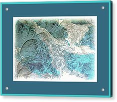 Acrylic Print featuring the photograph Blue Maze by Athala Carole Bruckner