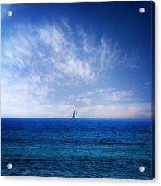 Blue Mediterranean Acrylic Print