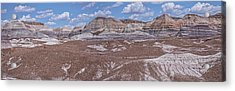 Blue Mesa At The Petrified Forest National Park Acrylic Print by Jim Vallee