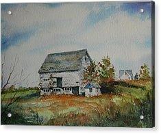 Blue Milkhouse Acrylic Print by Mike Yazel