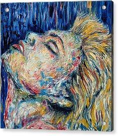 Blue-mo Acrylic Print by Joseph Lawrence Vasile
