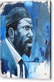 Blue Monk Acrylic Print by Martel Chapman